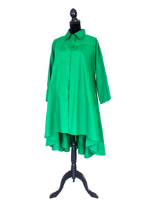 kelly green hi lo tunic dress