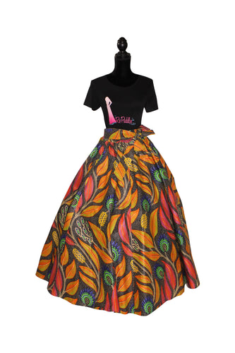 'Picasso's Forest' Maxi Skirt