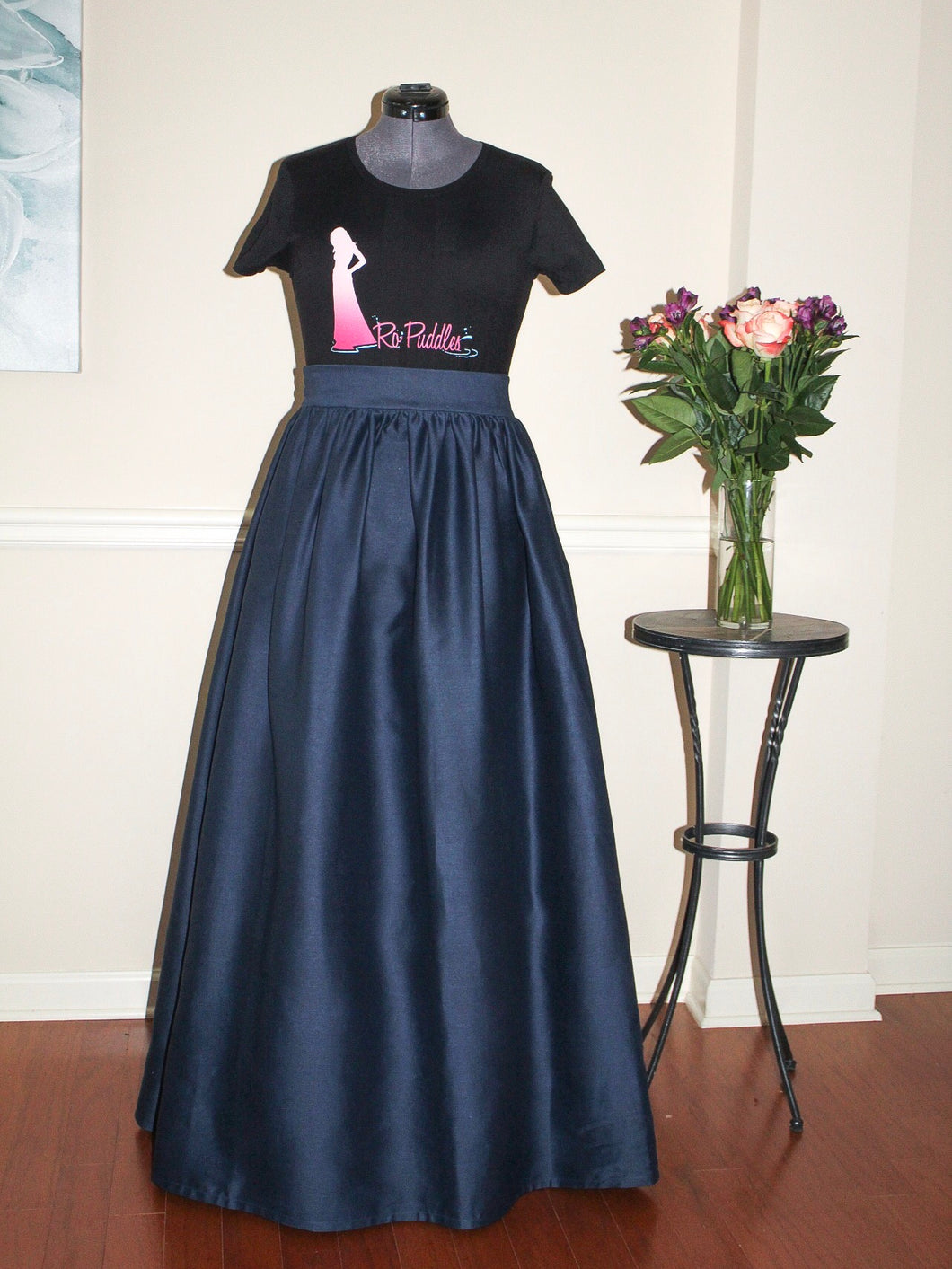 Custom Made Demin Maxi Skirt