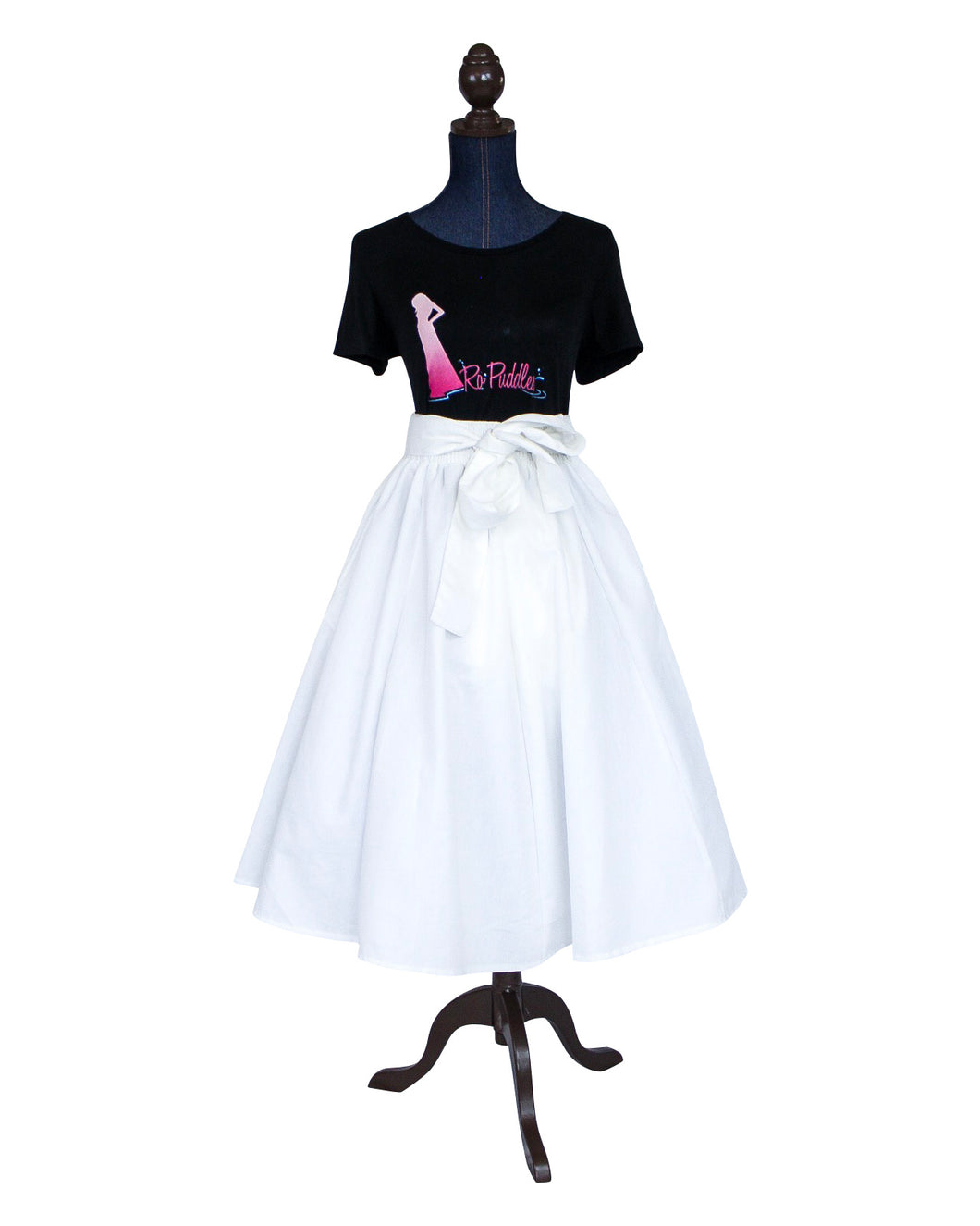 women's white midi skirt