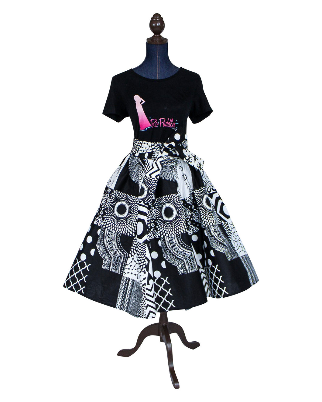 Top Quality African Print Midi Skirt