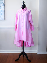 Pink HiLo Cotton Tunic Dress