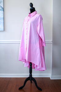 Pink Cotton HiLo Tunic Dress