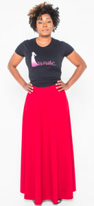red aline skirt