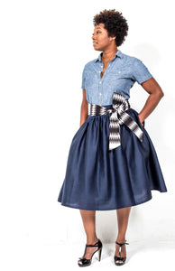 handmade denim skirt