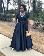 how to style a denim maxi skirt