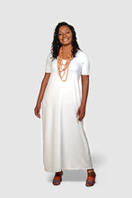 long white maxi dress