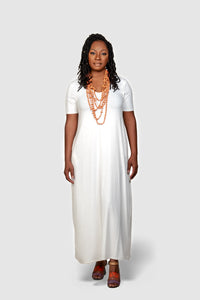 womens white maxi dress