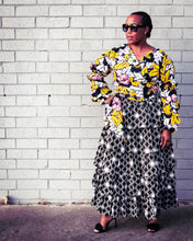 How to style a floral print wrap top