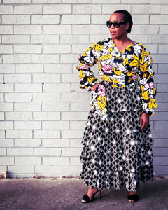 How to Style an African Print Skirt