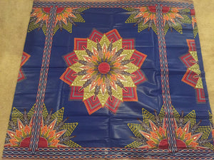 Dashiki Prints - Blue and Red Flower