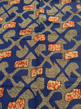 African Print - Blue and Red Abstract