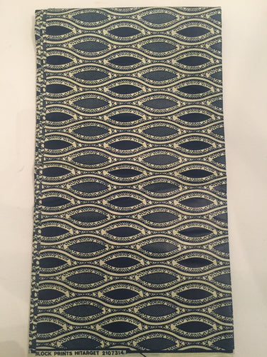 African Print - Blue and White Ovals