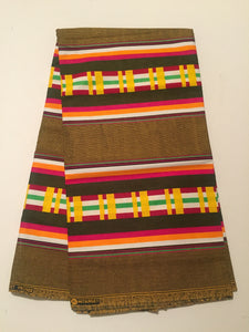 Kente Prints - Brown Multi Color