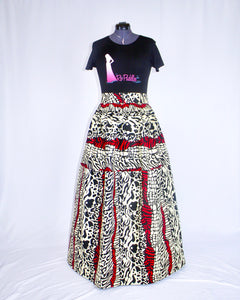 Custom Made African Print Maxi Skirt