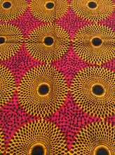 African Print - Pink and Yellow Waterwells