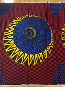 Dashiki Prints - Red, Blue and Yellow Abstract
