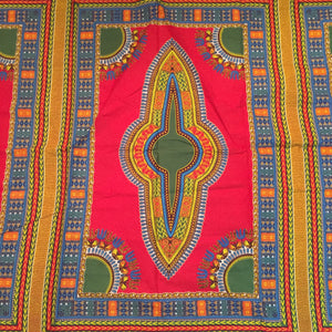 Dashiki Prints - Red and Green (Short)