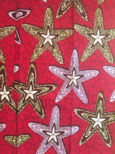 African Print - Red Stars