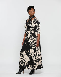 Fashions by RoPuddles Black Floral Maxi Dress