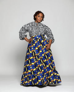 Fashions by RoPuddles Custom Made African Print Skirt