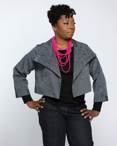 Fashions By RoPuddles Gray Cropped Jacket