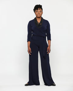 Fashions by RoPuddles Navy Wide Leg Jumpsuit