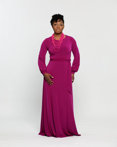 breast cancer awareness pink maxi dress