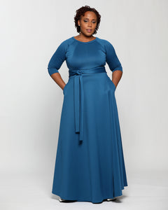 Fashions By RoPuddles Teal Blue Maxi Dress