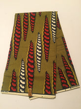 African Print - Yellow, Red and White Coils