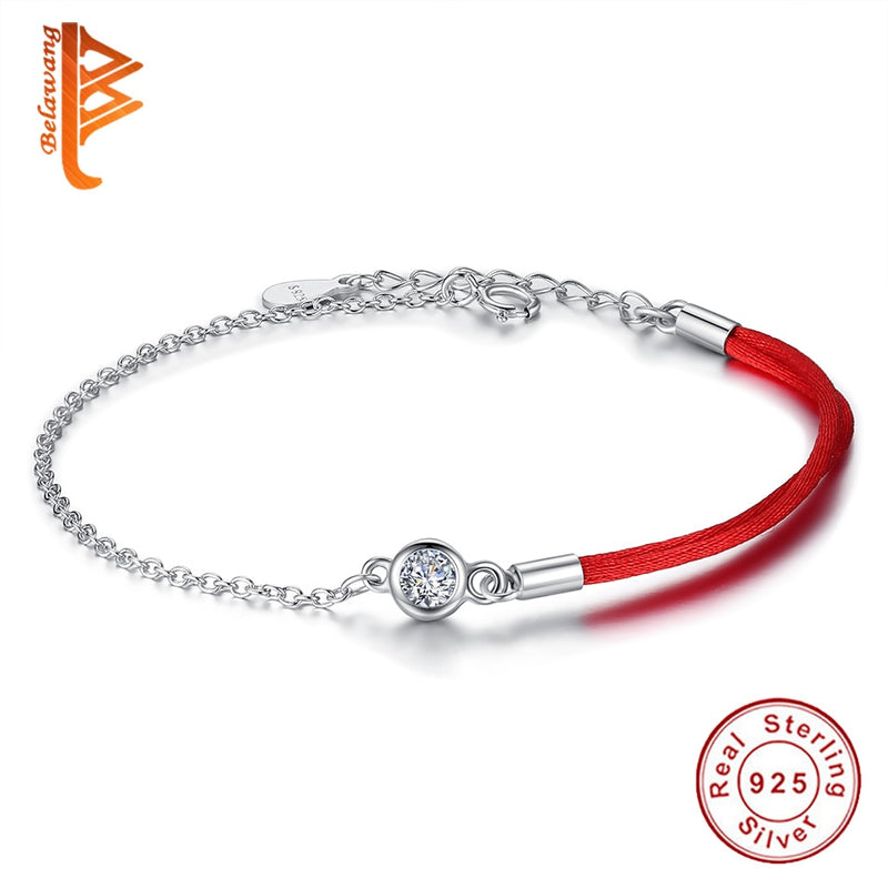 Classic Red Rope Bracelet Red Thread Line Round Crystal Bracelet