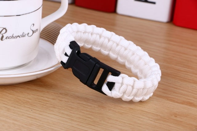 Survival Bracelet For Men Outdoor Camping Hiking Buckle Wristband