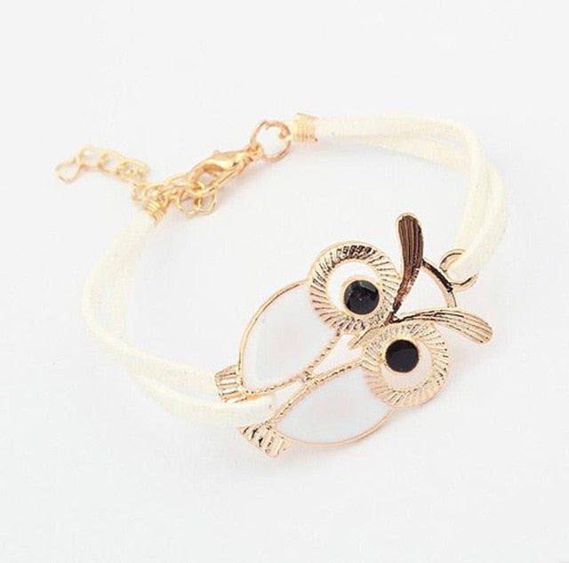 Korean Fashion Owl Bracelets Bangles Vintage Lovely Style 1 Piece