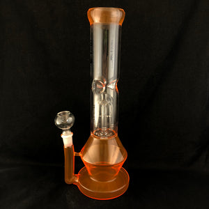 "12"" Beaker with Tree Perc Orange UV"