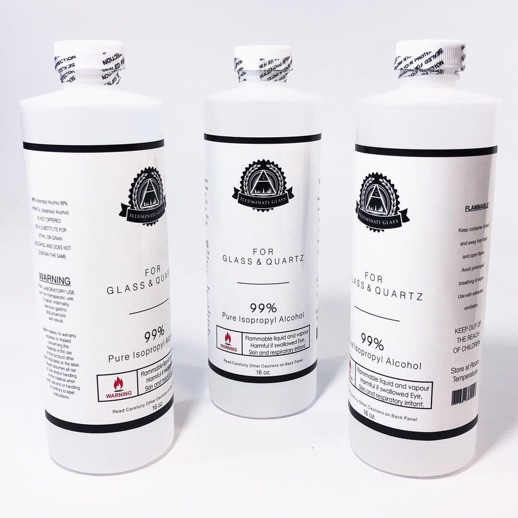99% Isopropyl Alcohol - Glass & Quartz Cleaner