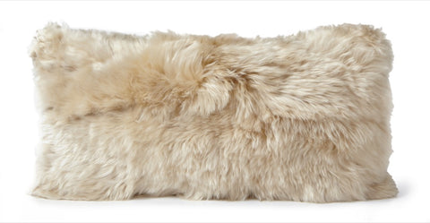 Alpaca Fleece Cushion Auskin - 28 x 56cm - Furry Sheepskin