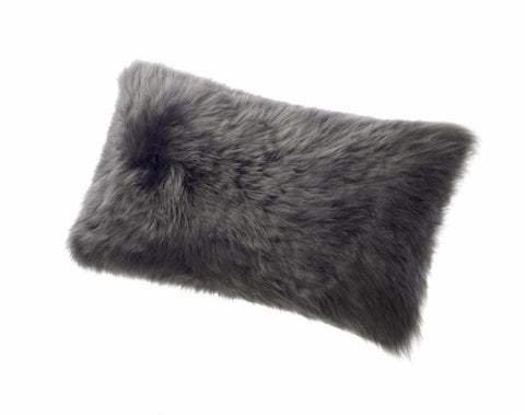 Sheepskin Long Wool Cushion Auskin - 28 x 56cm - Furry Sheepskin