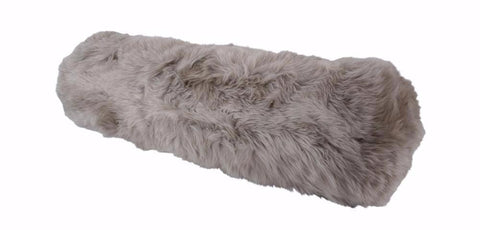 Sheepskin Long Wool Cushion Auskin - 76 x 20cm - Furry Sheepskin