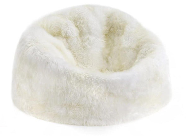 Sheepskin Beanbag Filled Auskin - large - Furry Sheepskin
