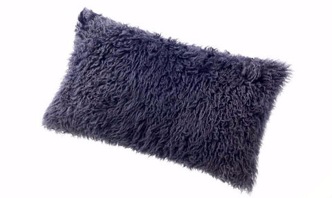 Sheepskin Curly Wool Cushion Auskin - 28 x 56cm - Furry Sheepskin