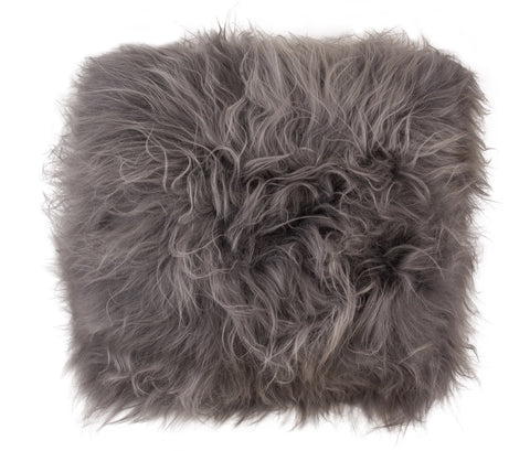 Icelandic Sheepskin Cushion Auskin - 45 x 45cm - Furry Sheepskin