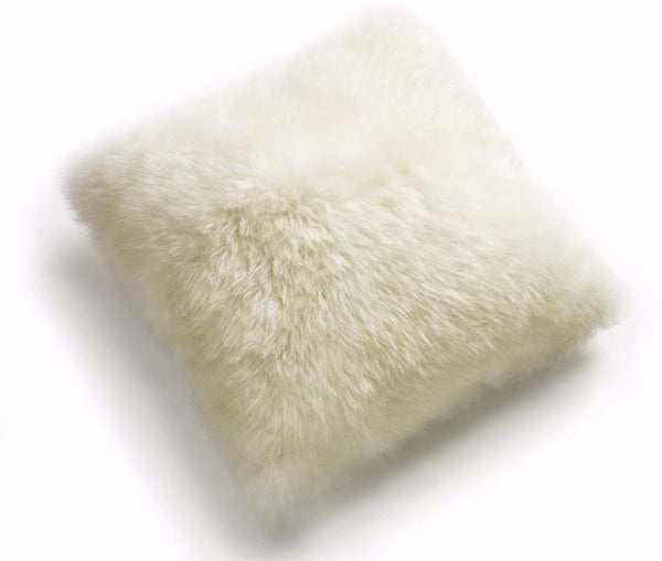 Sheepskin Long Wool Cushion Auskin - 60 x 60cm - Furry Sheepskin