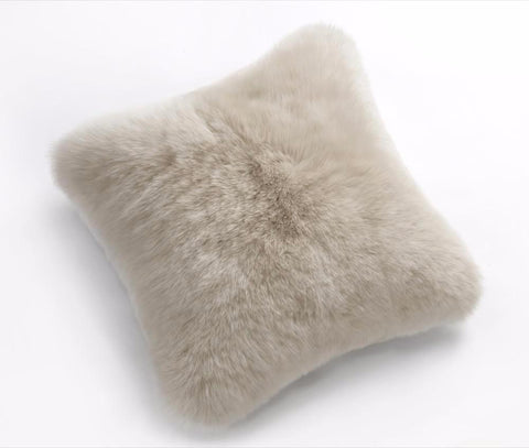 Sheepskin Long Wool Cushion Auskin - 50 x 50cm - Furry Sheepskin