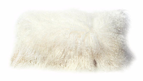 Tibetan Lambskin Cushion Auskin - 28 x 56cm - Furry Sheepskin
