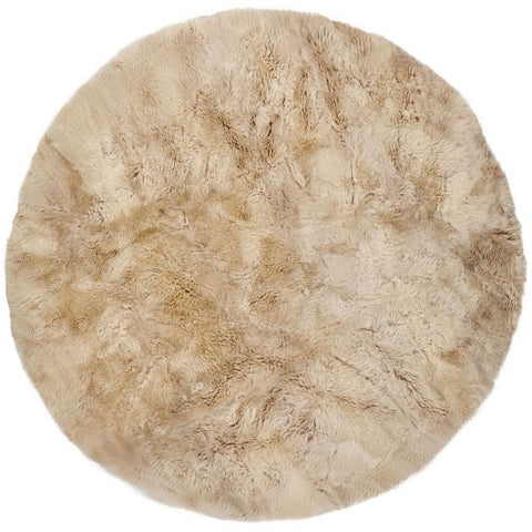 New Zealand Sheepskin Round Rug Natures Collection - 250cm