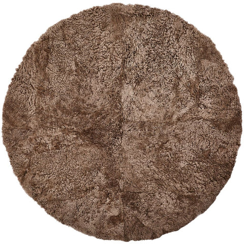 New Zealand Sheepskin Round Rug Natures Collection - 140cm