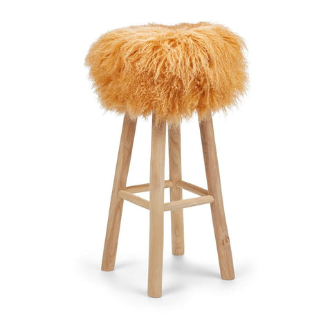 Tibetan Sheepskin Stool Natures Collection - 34 x 75cm