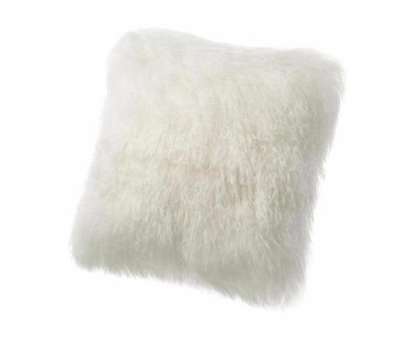 Tibetan Lambskin Cushion Auskin - 41 x 41cm - Furry Sheepskin