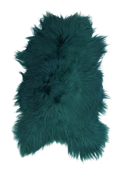 Icelandic Sheepskin Rug Emerald Green Hides of Excellence- Single 120 x 80cm - Furry Sheepskin
