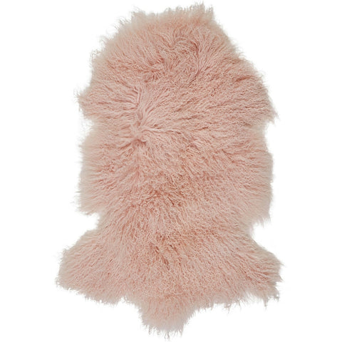 Mongolian Sheepskin Rug Blush Hides of Excellence - 60 x 100cm - Furry Sheepskin